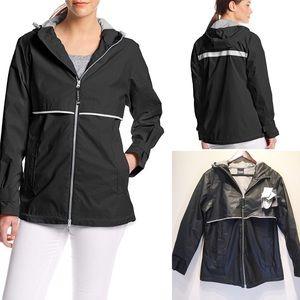 Charles River New Englander Black Rain Jacket 5099